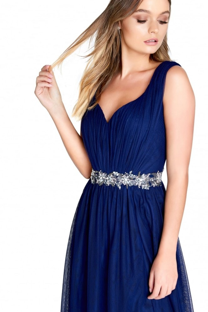 Little Mistress Navy Trim Maxi