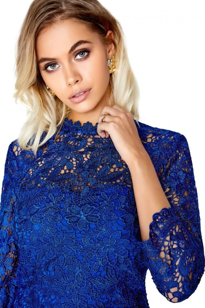 Paper Dolls Blue Lace Dress