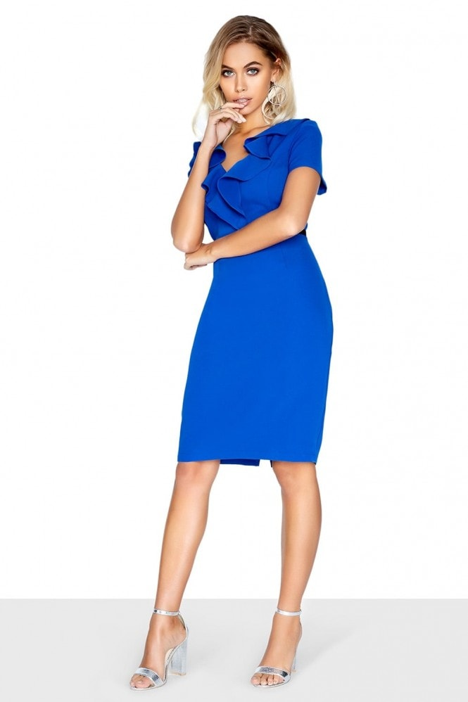Paper Dolls Blue Ruffle Dress