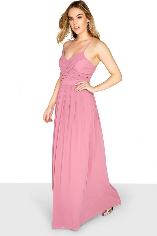 Outlet Girls On Film Pink Chiffon Maxi