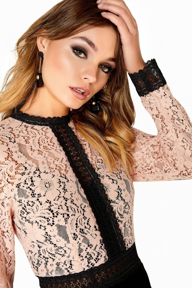 Little Mistress Sherbert Lace Dress