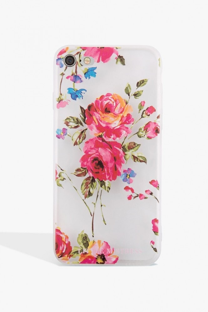 Little Mistress Accessories Rose Print Case Iphone 7