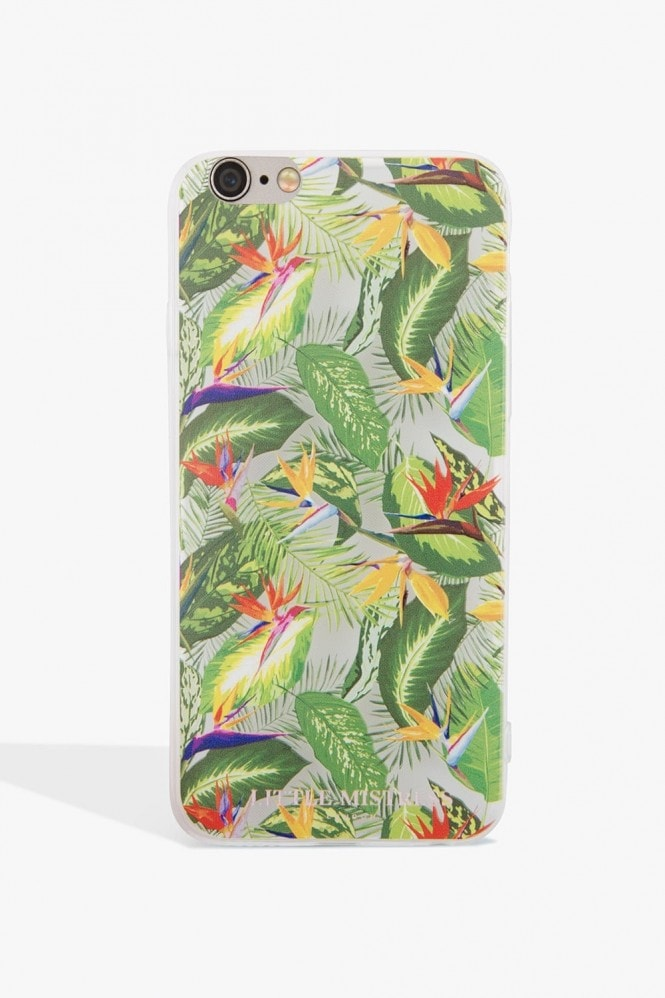 Little Mistress Accessories Green Leaf Print Case Iphone 7