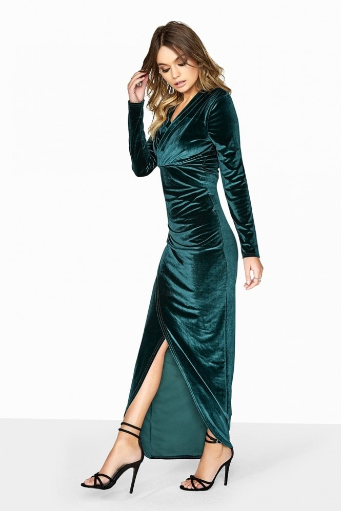 Outlet Outrageous Fortune Green Velvet Maxi