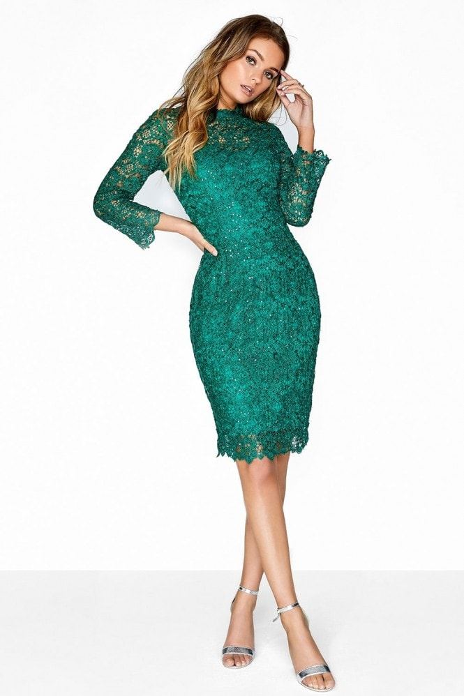 Outlet Paper Dolls Jade Green Lace Dress