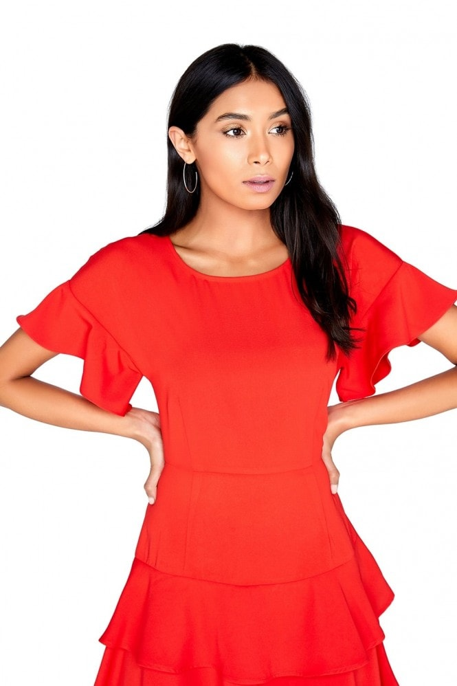 Girls on Film Red Shift Dress