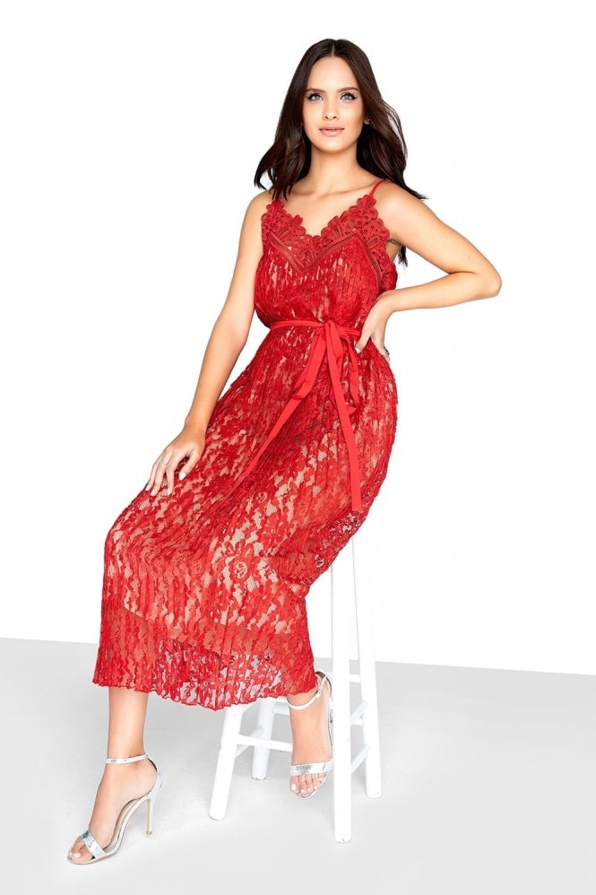 Little Mistress Red Lace Dress