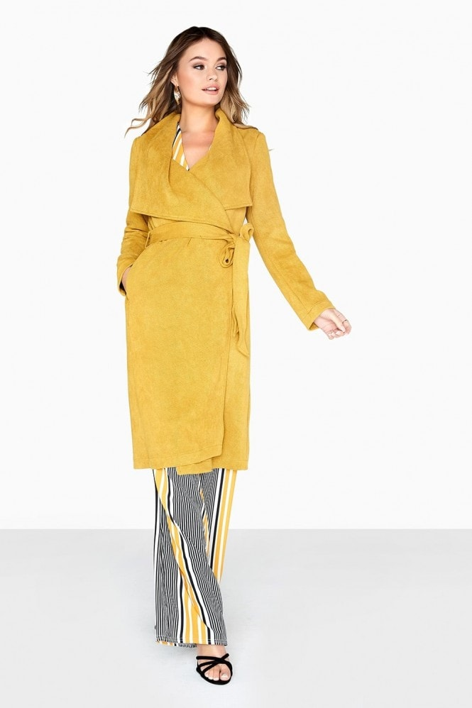 1af3c1cba55d Girls on Film Yellow Trench Coat - Girls On Film from Little Mistress UK