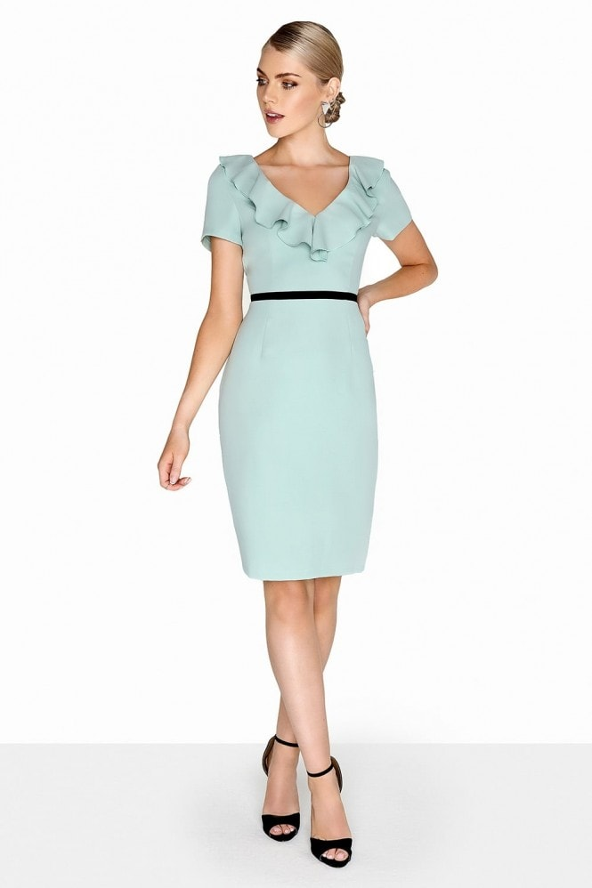 Paper Dolls Sage Ruffle Dress
