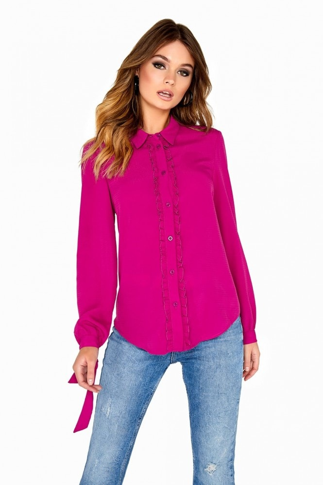 Girls on Film Magenta Shirt