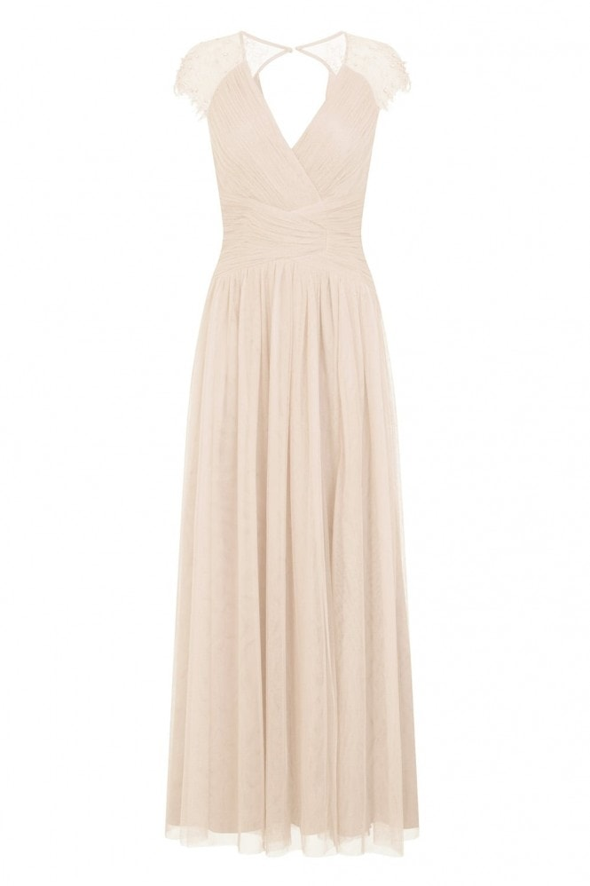 Little Mistress Keyhole Back Maxi Dress