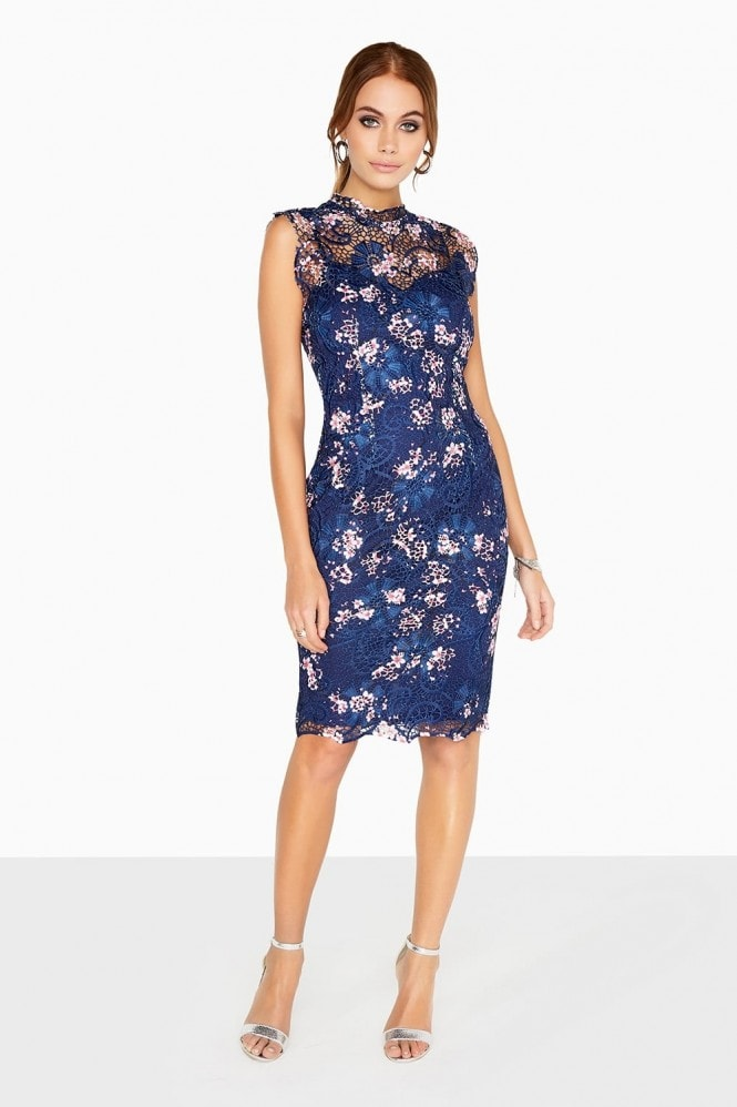 Paper Dolls Navy Print Dress