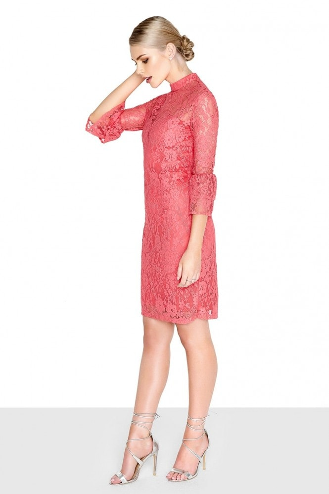 Paper Dolls Coral Fluted Dress