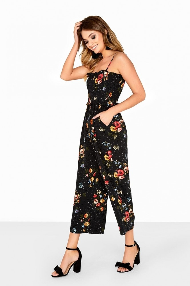 Girls on Film Multi Print Jumpsuit