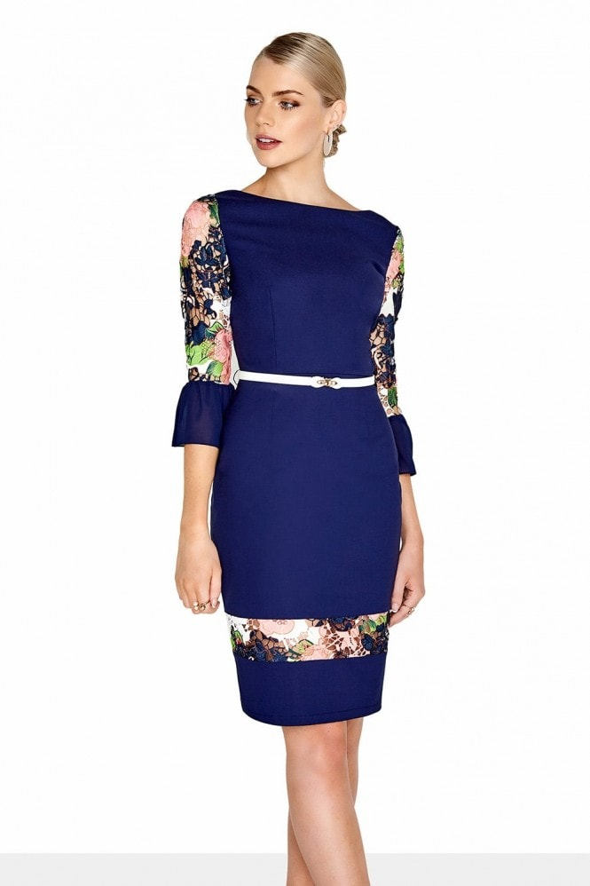 Paper Dolls Navy Bloom Dress
