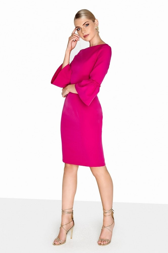 Paper Dolls Pink Fluted Dress