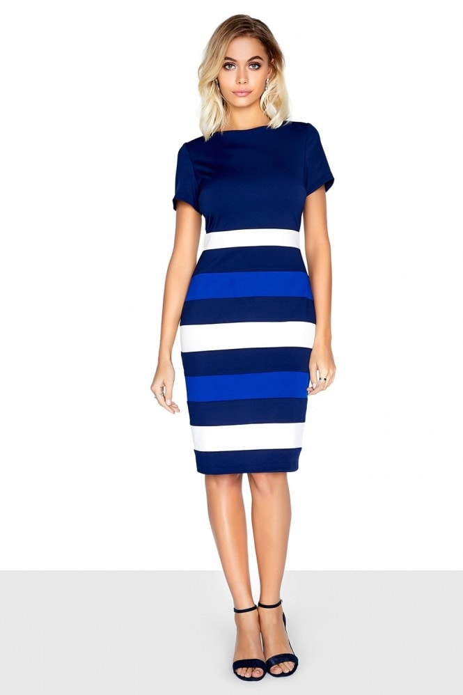 Paper Dolls Navy Panel Dress