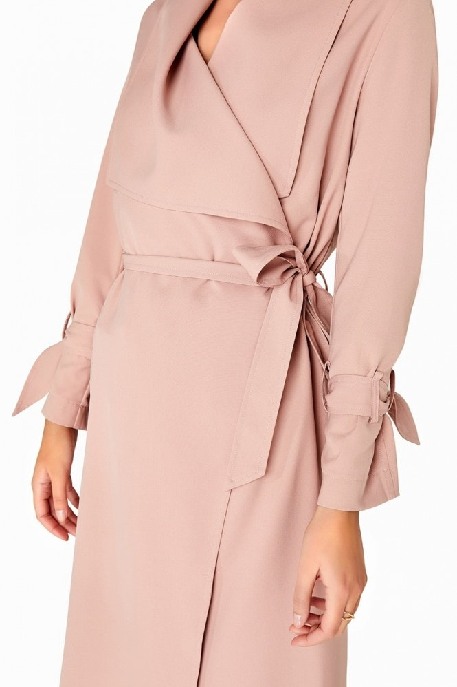 Outlet Girls On Film Twill Trench Coat