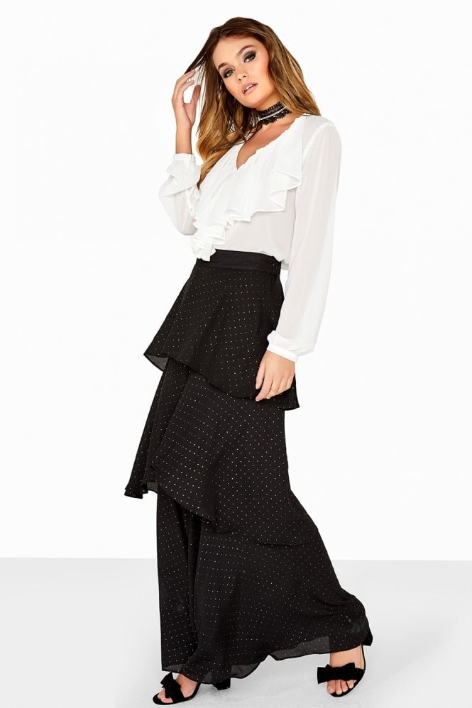 Girls on Film Studded Layered Chiffon Trouser