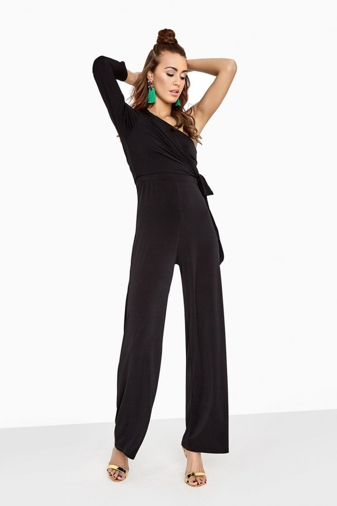 Black Sleeve Jumpsuit