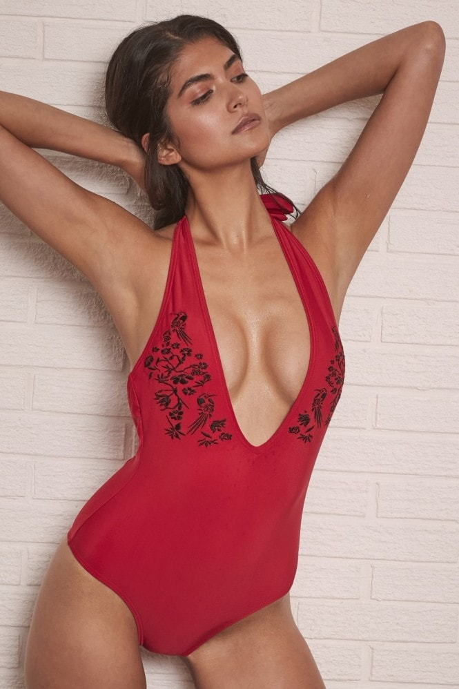 Wolf and Whistle Red Swimsuit