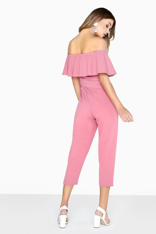 Girls on Film Pink Bardot Jumpsuit