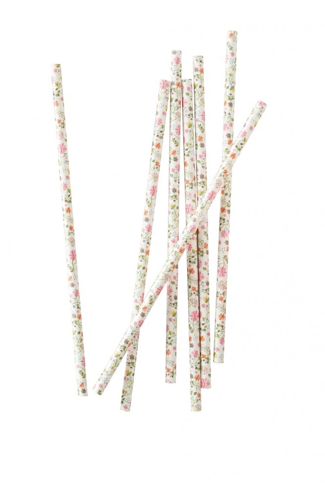 Ginger Ray Floral Straws