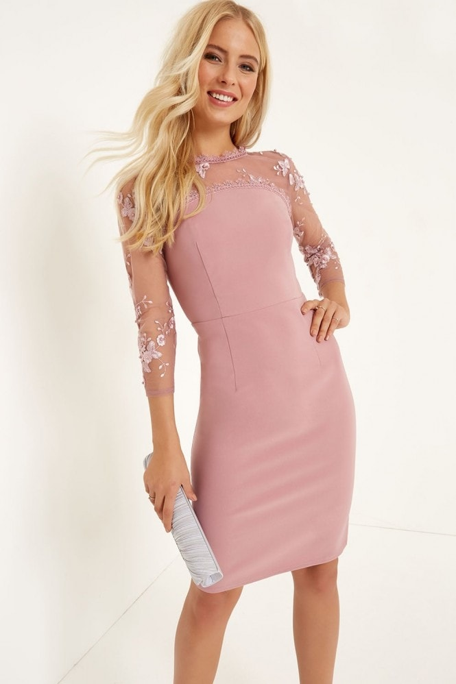 Little Mistress Embroidered Bodycon