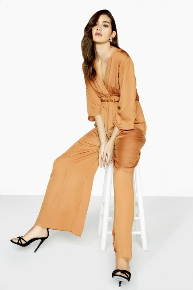 Silky Bronzed Jumpsuit