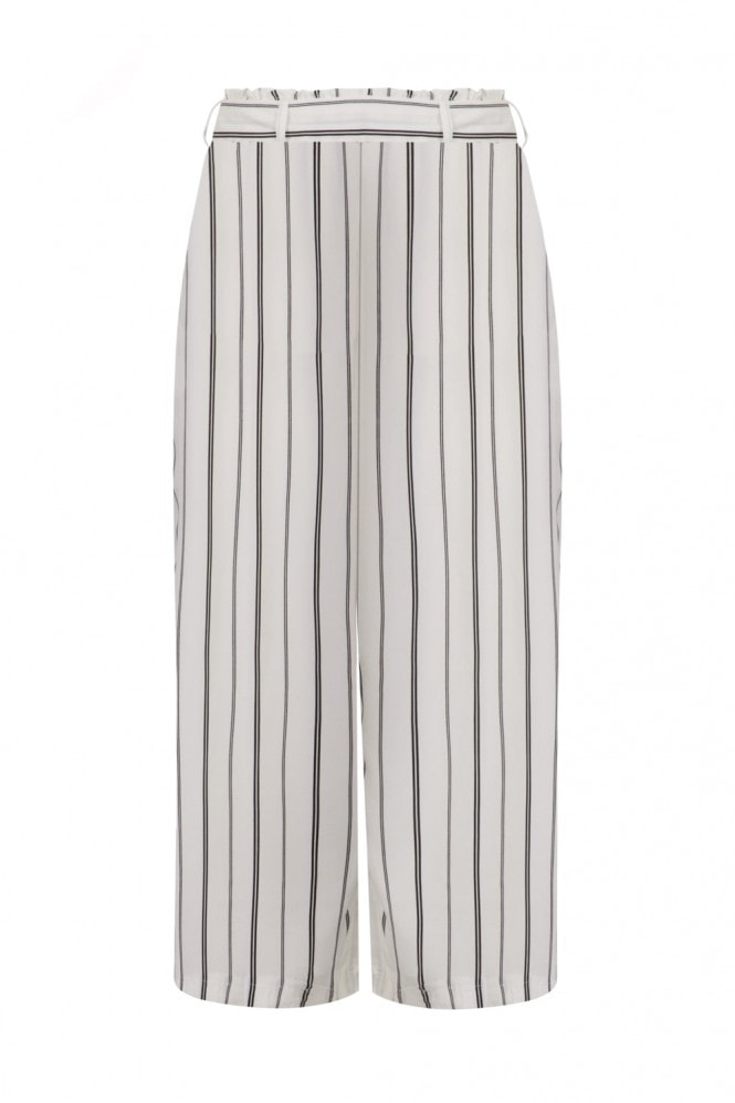 Stripe Cropped Trousers