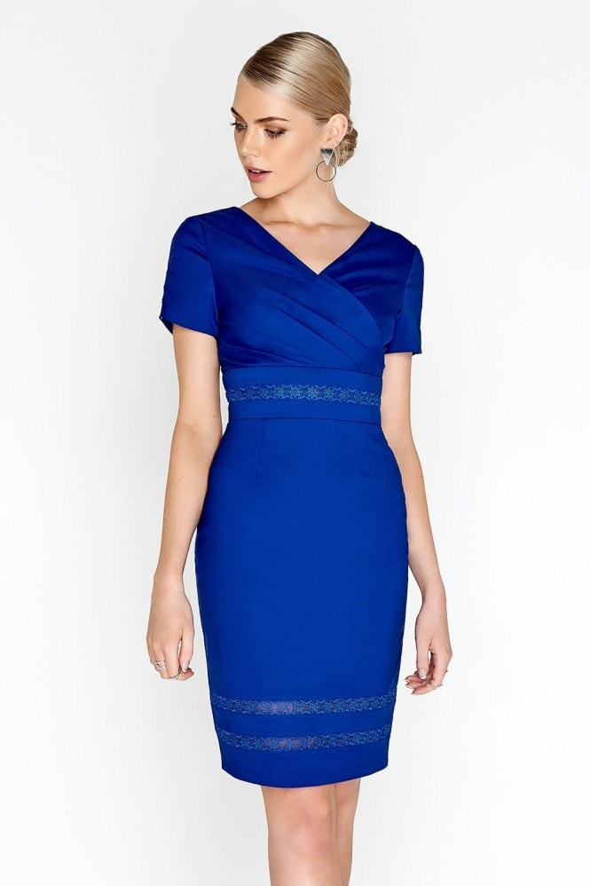 Paper Dolls Cobalt Wrap Dress