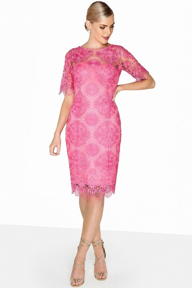 Outlet Paper Dolls Pink Crochet Dress