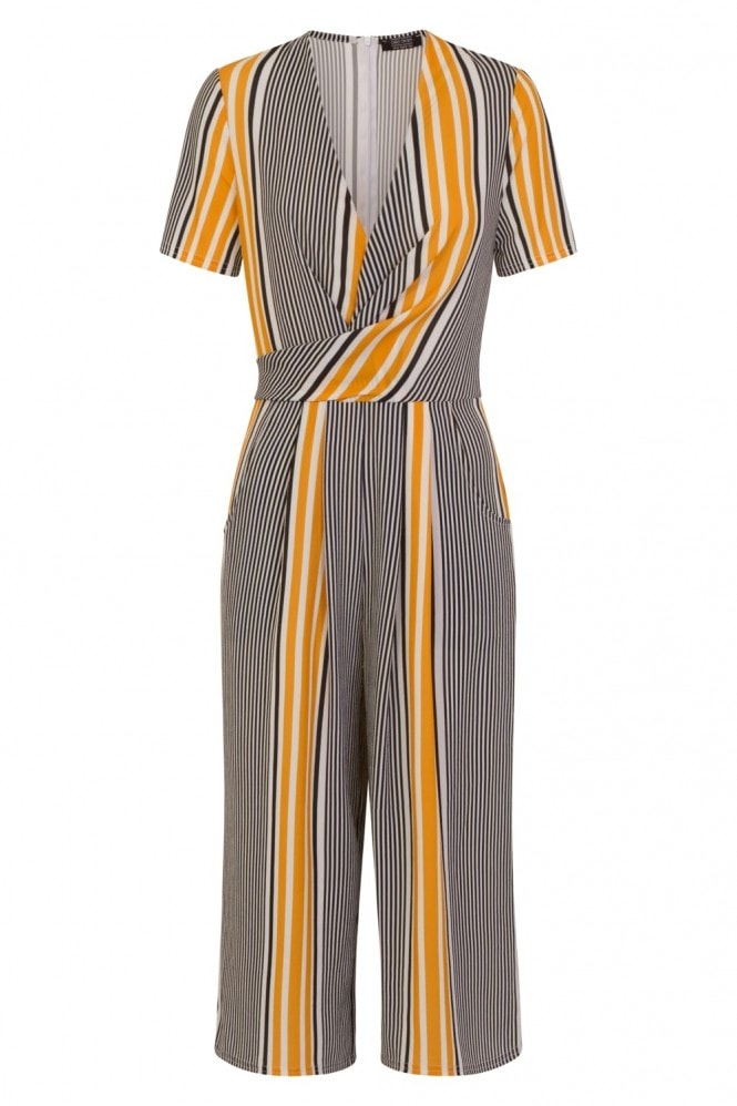 Stripe Wrap Jumpsuit