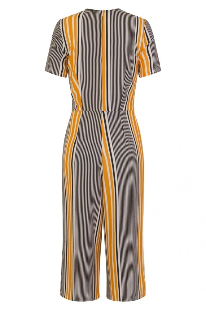 Girls on Film Stripe Wrap Jumpsuit