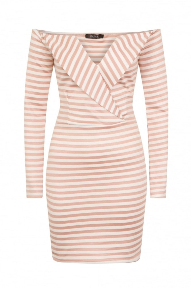 Girls on Film Alexander V-Cut Dress With Lapel