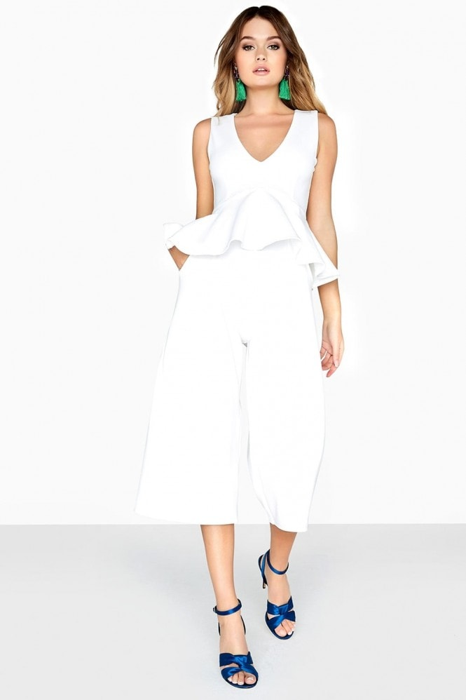 Girls on Film Jamal Peplum Jumpsuit