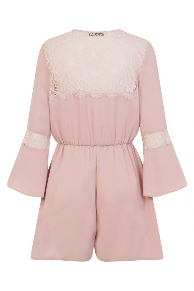 Girls on Film Mikkel Playsuit With Lace Inserts