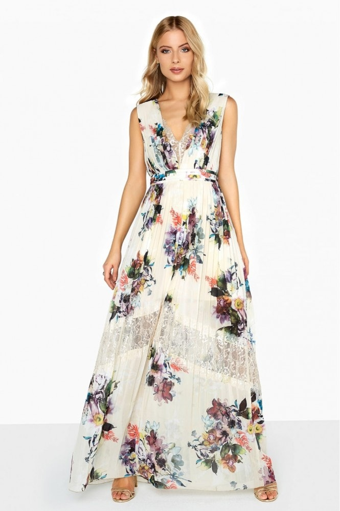 Ava Floral Lace Insert Maxi Dress