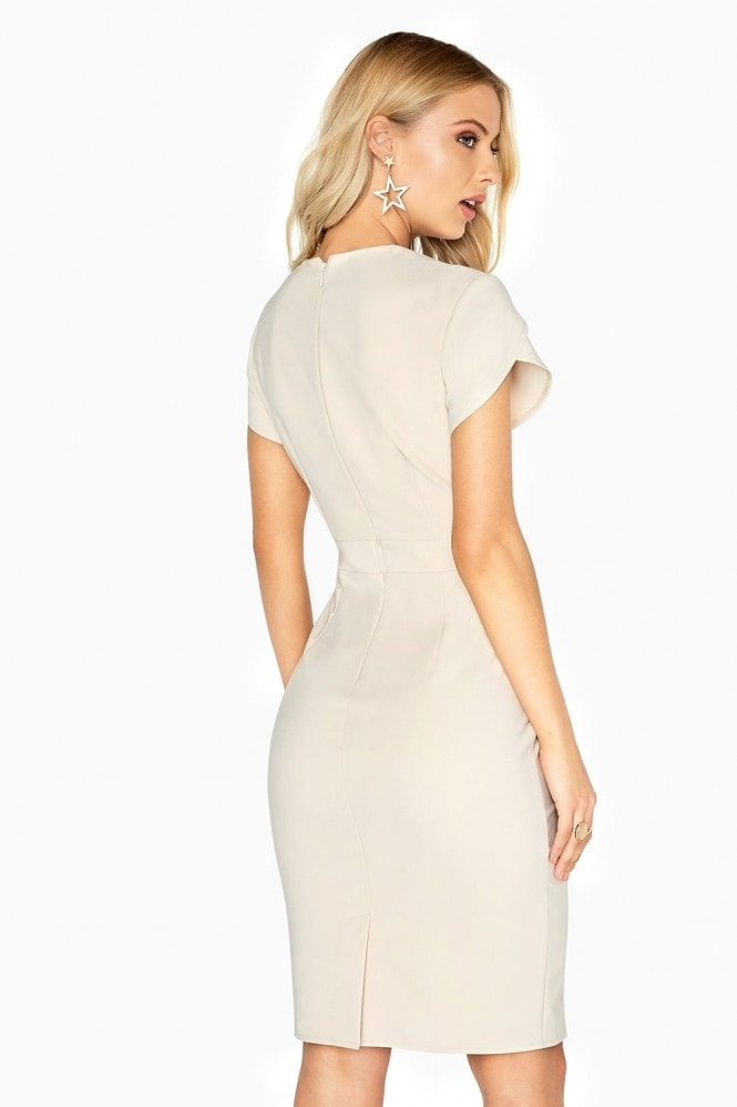Little Mistress Harper Pencil Dress With Contrast Embroidery