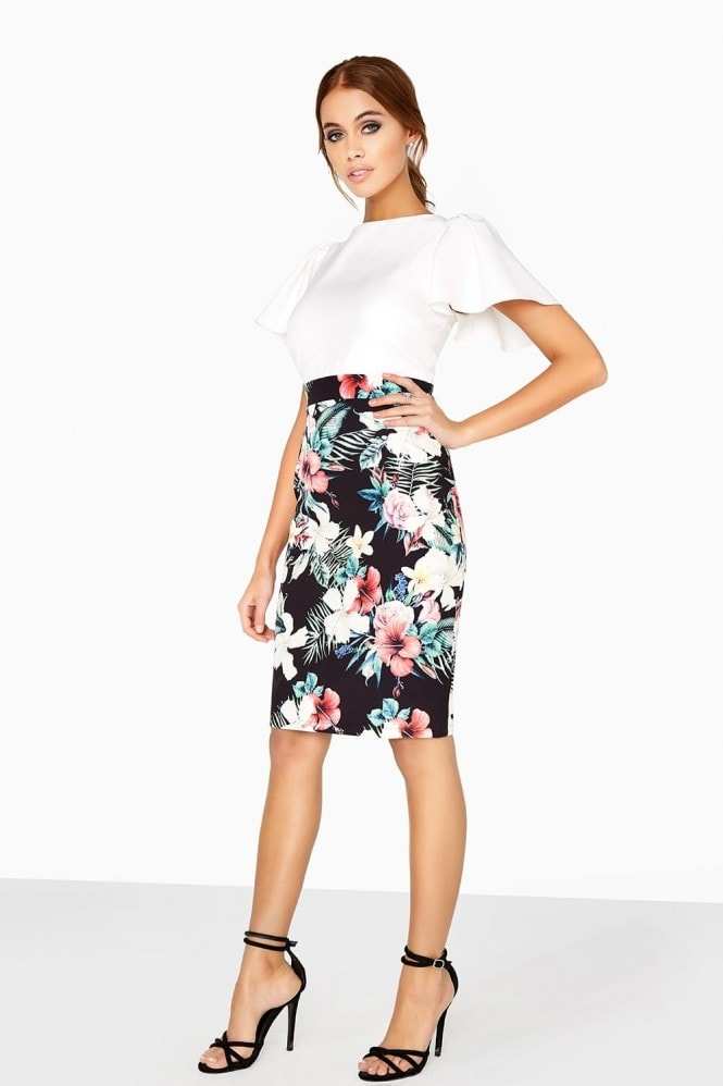 Outlet Paper Dolls Rouen Tropical-Print Pencil Dress