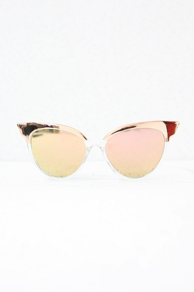 Jourdan Cat Eye Sunglasses In Clear