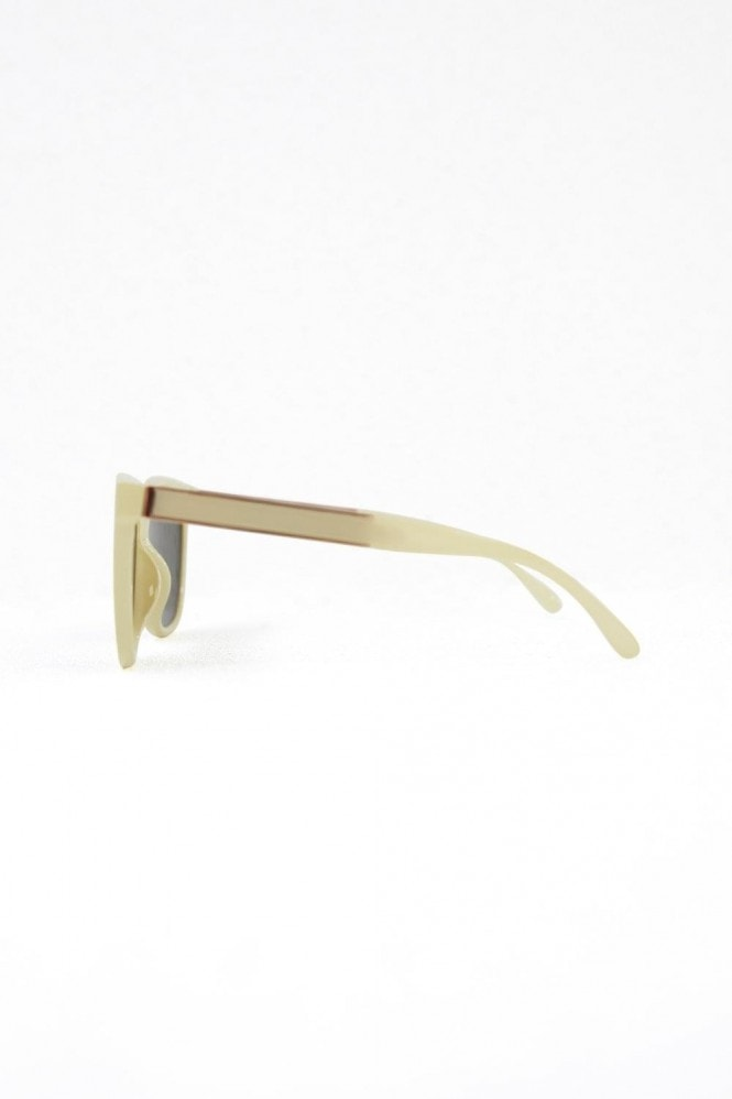 Cara Cream Square Sunglasses