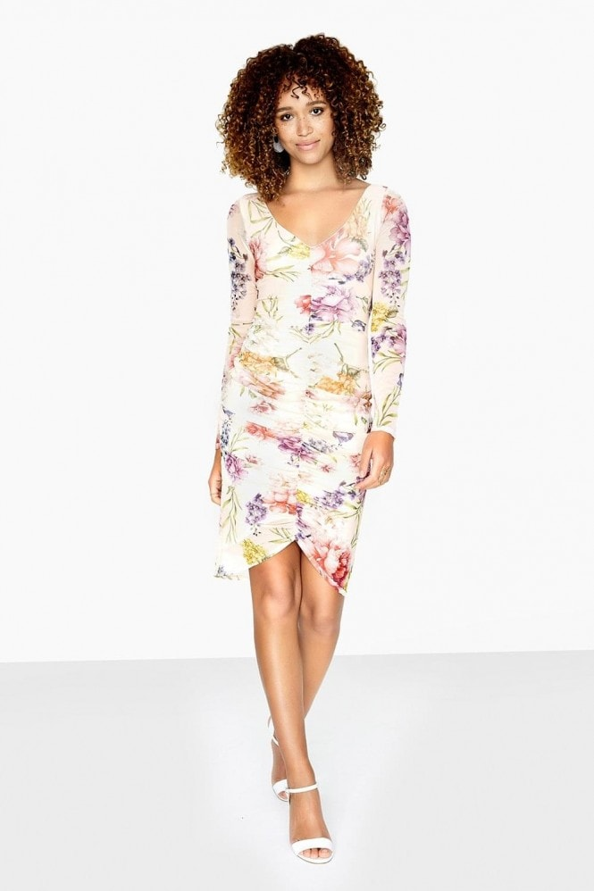 Girls on Film Charlene Ruched Front Dress