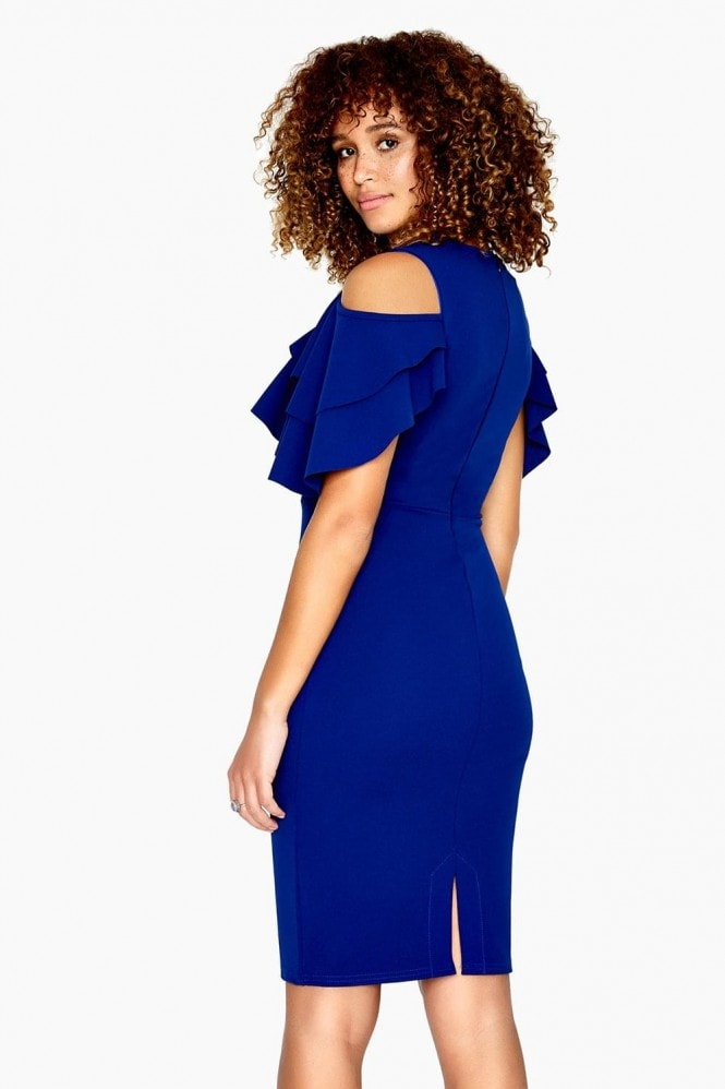 Girls on Film Dean Overlay Cold Shoulder Dress
