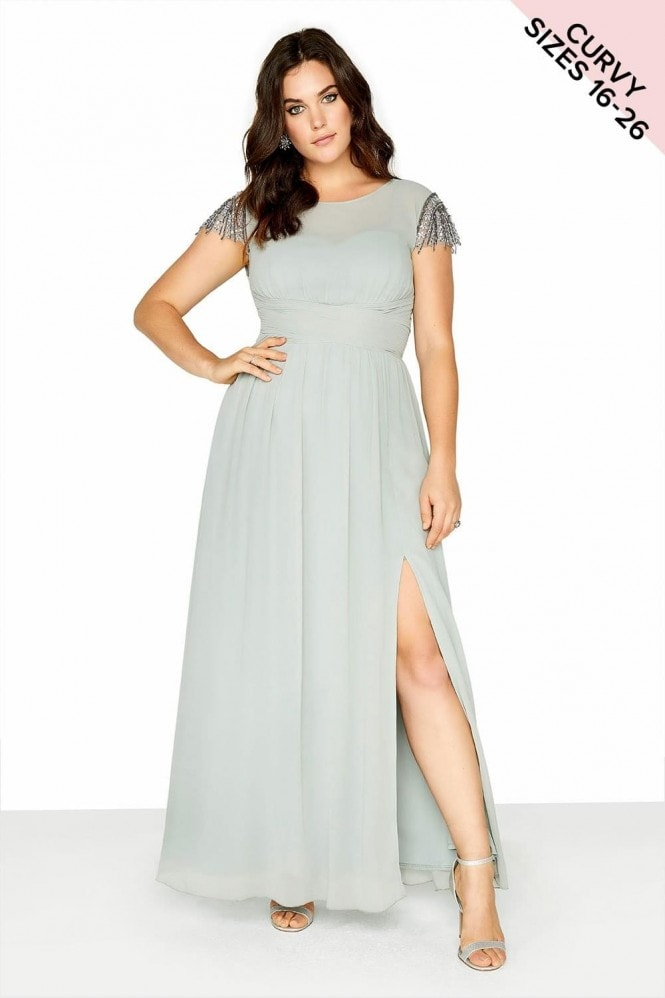 Little Mistress Curvy Waterlily Maxi Dress