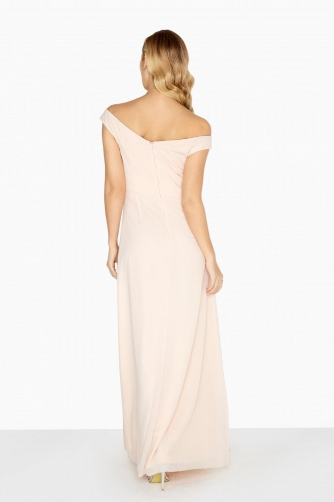 Little Mistress Eleanor Empire Maxi Dress With Drape Front