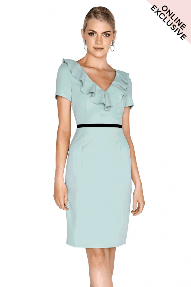 Outlet Paper Dolls Sage Ruffle Dress