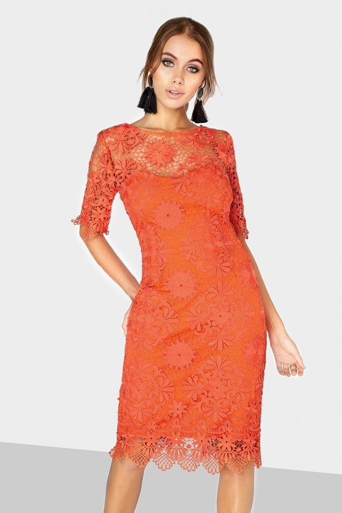 Outlet Paper Dolls Orange Lace Dress