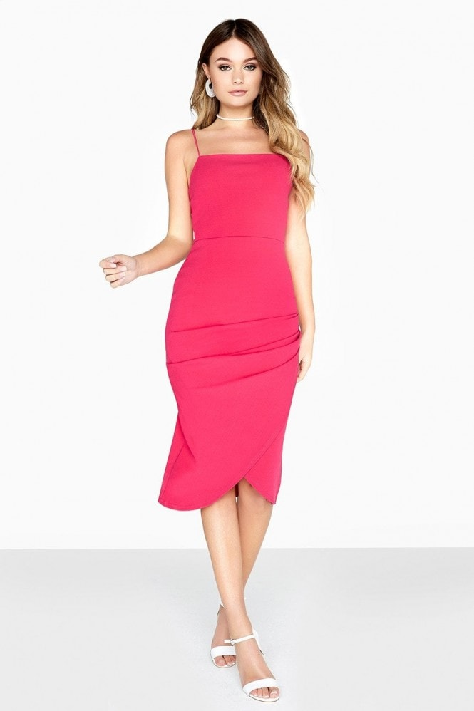 Girls on Film Robyn Square Cut Ruched Dress