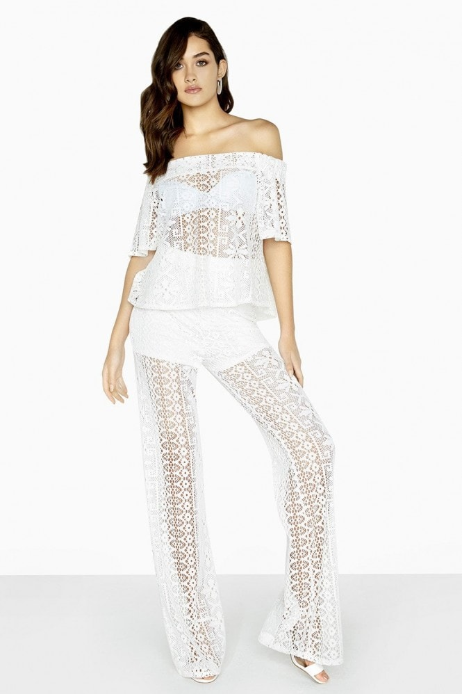 Girls on Film Marlin Lace Palazzo Trousers
